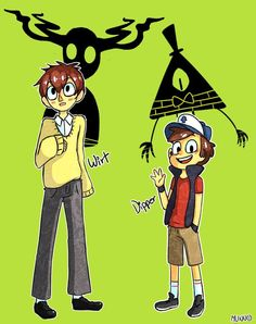 A story about siblings encountering strange and unexplainable things. Gravity Falls created by Alex Hirsch Over The Garden Wall created by Patrick McHale Best Crossover, Fandom Crossover, Billdip, Garden Falls, Randy Cunningham, Gravity Falls Au, Bad Friends, Dipper Pines, Over The Garden Wall