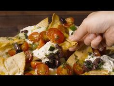 Best Greek Nachos - on a hot summer night if I don't want to turn on the oven this is a great idea. Add a some pre-cooked chicken and dinner is done.