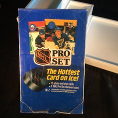 1 box of unopened 1990 Pro Set Series 1 Hockey Cards. It contains 36 packs. The perfect gift for a hockey fan or sports fan in general.  #Hockeycards #Hockeysportcards #Hockeyplayercards  | Shop this product here: http://spreesy.com/tippysattic/2971 | Shop all of our products at http://spreesy.com/tippysattic    | Pinterest selling powered by Spreesy.com