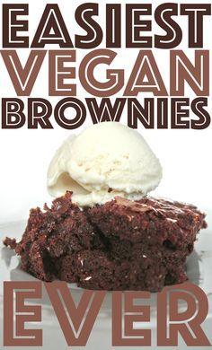 Rich vegan brownies with simple ingredients! #simple #vegan #baking