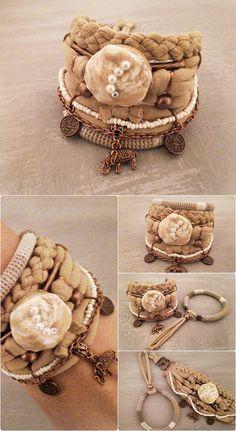 Bohemian Bracelet Camel Color Bracelet Gypsy Bracelet Gypsy