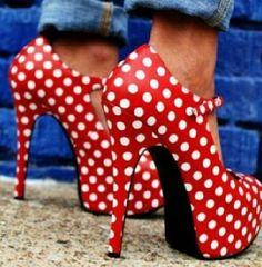 pin-up  #heels #red #dots #polka dots #pin-up http://pinterest.com/fancybt/shoes-of-the-styles/