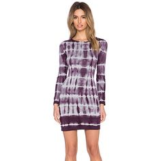 Young, Fabulous & Broke Alyssa Dress Dresses featuring polyvore, fashion, clothing, dresses, longsleeve dress, purple long sleeve dress, young fabulous broke dress, long sleeve dresses and purple dress