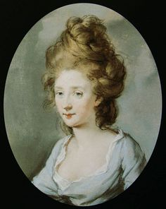 Miniature portrait of Henrietta Molesworth by Hugh Douglas Hamilton (1780s)