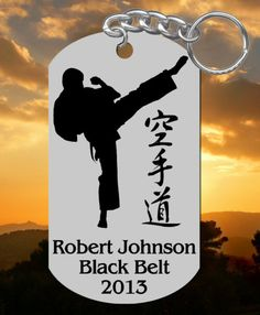 Karate or Taekwondo Keychain Gift, Personalized FREE w NAME! choose man or woman, TKD