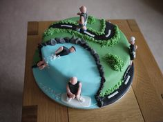 Birthday Cake For Mum, 50th Birthday, Birthday Cakes, Triathlon, Cupcakes, Cupcake Cakes, Running Cake, Dad Cake, Rich Cake