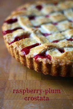 Raspberry-Plum Crostata