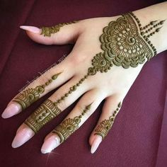Latest Henna (Mehndi) Designs for hands - Health care, beauty tips. Easy Mehndi Designs, Henna Hand Designs, Latest Mehndi Designs, Bridal Mehndi Designs, Mehndi Designs Finger, Mehndi Designs For Girls, Mehndi Designs For Beginners, Mehndi Designs For Fingers, Henna Tattoo Designs