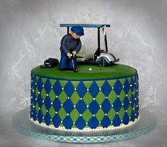 Golf Cart Golfer cake | Groom's cake