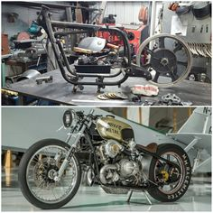 """Here's some perspective on the Twin Turbo BMW we built…top photo taken Dec 21, 2015….bottom photo what the bike looked like/is at as of Feb 9th, 2016 when we left for @the1moto show. Do the math. That's 50 days or rather 7 weeks. This is what was accomplished in a short amount of time, on top of working on customers bikes & other projects in the shop. This wasn't a year or two year long project. We know you """"want more"""", be patient, it will happ..."""