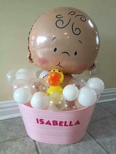 15 Super Ideas Baby Shower Centerpieces For Girls Balloons Center Pieces Baby Shower Ballons, Baby Balloon, Baby Shower Party Favors, Baby Shower Fun, Baby Shower Centerpieces, Baby Shower Themes, Baby Shower Invitations, Baby Shower Gifts, Shower Ideas