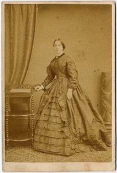 Civil War Era Lady in Beautiful Ruffled Dress by Burton Birmingham CDV | eBay