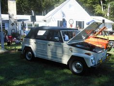 There were several Volkswagen Things at the 2015 All Aircooled Gathering. This is a 1973 model. Volkswagen Thing, The Unit, Shades, Sunnies, Eye Shadows, Draping