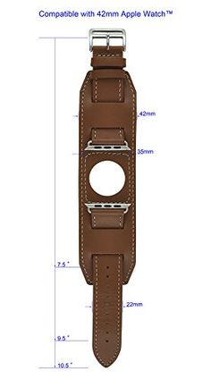 Moulin Smart Watch Cuff Strap Brown Compatible with Apple WatchTM. Leather Accessories, Leather Jewelry, Leather Craft, Cool Watches, Watches For Men, Custom Leather Belts, Creation Couture, Leather Bags Handmade, Leather Projects