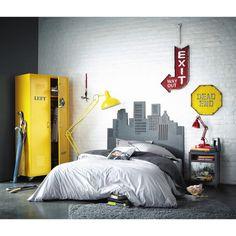 Kleiderschrank im Industry-Stil aus Metall, B 85 cm, gelb