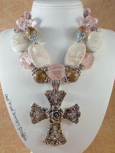 Christian Cowgirl Necklace Set  Chunky Pink and by Outwestjewelry