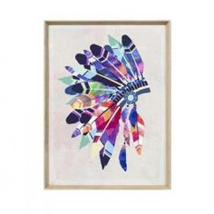 Vibrant Headdress | Framed Print | Matthew Thomas