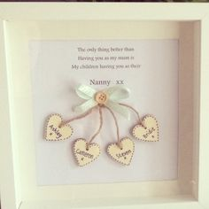 Mother's Day box frame gift. Sold by Emmylou https://www.etsy.com/uk/shop/Emmyloucrafts