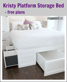 Kristy Platform Storage Bed – free plan
