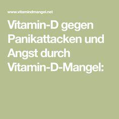 Vitamin-D gegen Panikattacken und Angst durch Vitamin-D-Mangel: