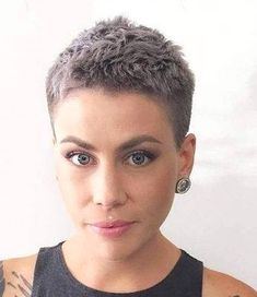 Today we have the most stylish 86 Cute Short Pixie Haircuts. We claim that you have never seen such elegant and eye-catching short hairstyles before. Pixie haircut, of course, offers a lot of options for the hair of the ladies'… Continue Reading → Short Curly Hairstyles For Women, Very Short Haircuts, Short Hair Cuts For Women, Hairstyles Haircuts, Curly Hair Styles, Really Short Hairstyles, Curly Haircuts, Shaved Hairstyles, Funky Hairstyles