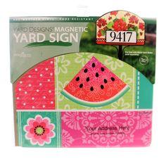 Garden Watermelon Welcome Yard Design Outdoor Decor Height: 9.25 Inches…