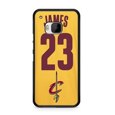 Lebron James Cleveland Cavaliers Jersey Yellow For HTC ONE M9
