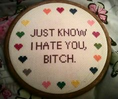 Awesome offensive cross stitch. wish i could send this one.