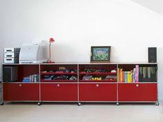 Sectional metal storage unit for kids' bedroom USM HALLER STORAGE FOR KID'S ROOM | Storage unit - USM Modular Furniture