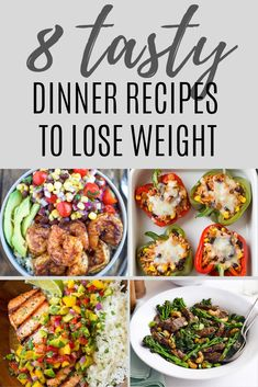 Eating healthy is the fastest way to lose weight. Here are 8 healthy dinner recipes to help you lose weight faster. Eating healthy is the fastest way to lose weight. Here are 8 healthy dinner recipes to help you lose weight faster. Healthy Dinner Recipes For Weight Loss, Weight Loss Meals, Clean Eating Recipes For Dinner, Delicious Dinner Recipes, Healthy Meal Prep, Easy Healthy Dinners, Eating Healthy, Clean Dinners, Clean Eating Dinner Recipes