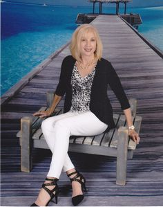 Cruise Fashion shots, Fashion over 50.  Top by Covered Perfectly.