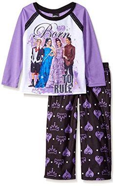 6b165ea6586c2 Disney Girls' Descendants Pajama Set Long sleeve/long pant Flame resistant  Extra comfy Easy to care