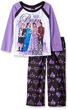 Disney Little Girls' Descendants 2-Piece Pajama Set, Purp...