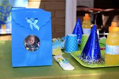 1 year birthday party @ Gold Reef City. blue, green and yellow themed birthday http://elegantkidsevents.webs.com