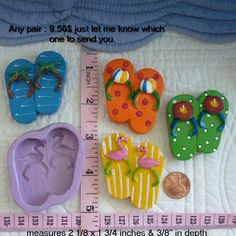 One Pair of Flip Flops, Food Safe Silicone Mold Cake Tool Fondant Gum paste Pastillage Chocolate Candy Sugarcraft Resin Plaster Clay Wax DIY