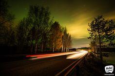 Mesmerizing glow of auroras 13.10.2013 in Rovaniemi, Lapland, Finland.
