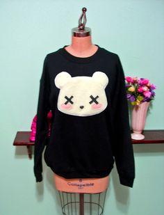 Deaddy Bear - Dead Teddy Bear Oversized Sweatshirt. $45.00, via Etsy.