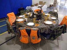 decorating a table with camo - Google Search