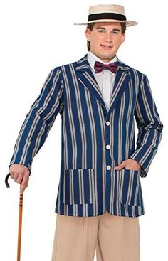 "1920s English Boater Jacket + Hat Mens Fancy Dress Roaring 20s Victorian Adult Costume Outfit (One Size upto 44"" Chest), http://www.amazon.co.uk/dp/B0111VXXF0/ref=cm_sw_r_pi_awdl_T2ttxbQ3RDTBW"