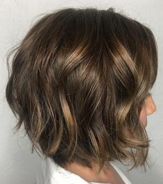 Pretty Brown Bob with Sun-Kissed Highlights