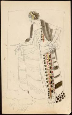 Sketch by Paul Poiret