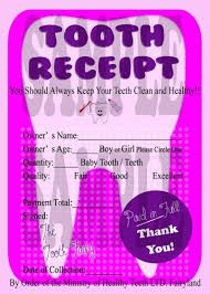 tooth fairy receipt - Google Search