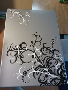 Painted table.. don't like the colors, but love the idea                                                                                                                                                                                 More