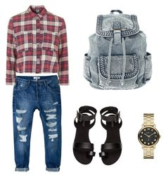 """""""Fall outfit #2"""" by reneespafford ❤ liked on Polyvore featuring MANGO, Topshop, H&M and Marc by Marc Jacobs"""