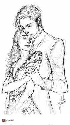 Feyre & Rhys by pojainter