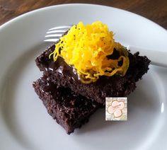 Brownie sem gluten, funcional. Com biomassa de banana verde