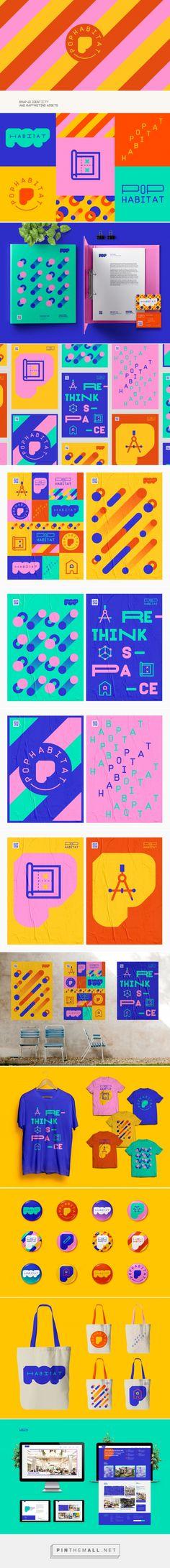 Pop Habitat Branding by Will Nunes Studio | Fivestar Branding Agency – Design and Branding Agency & Curated Inspiration Gallery #design #designinspiration #designlovers #branding #brand #brandidentity