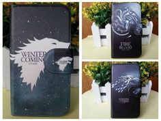 Game of Thrones Black Wolf Winter Style PU Leather Flip Case Cover for Nokia Lumia 630 635
