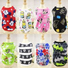b2ae0d504 Cute Pet Dog Clothes Soft Summer Cotton Puppy Shirts T shirt Cat Vests  Cartoon Costume Clothing for Small Pets Chihuahua XS-XXL(China)