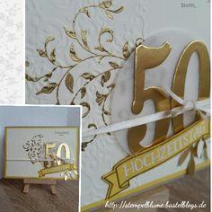 StampinUp,goldene Hochzeit,Stempelset Auf dem ersten Blick, Framelits Große Zahlen...